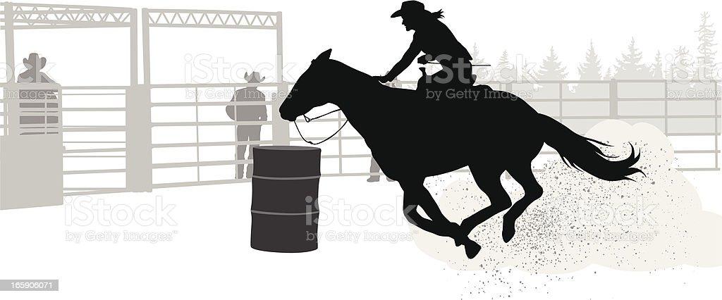 royalty free barrel racing clip art vector images illustrations rh istockphoto com barrel racing clip art white barrel racing clip art free