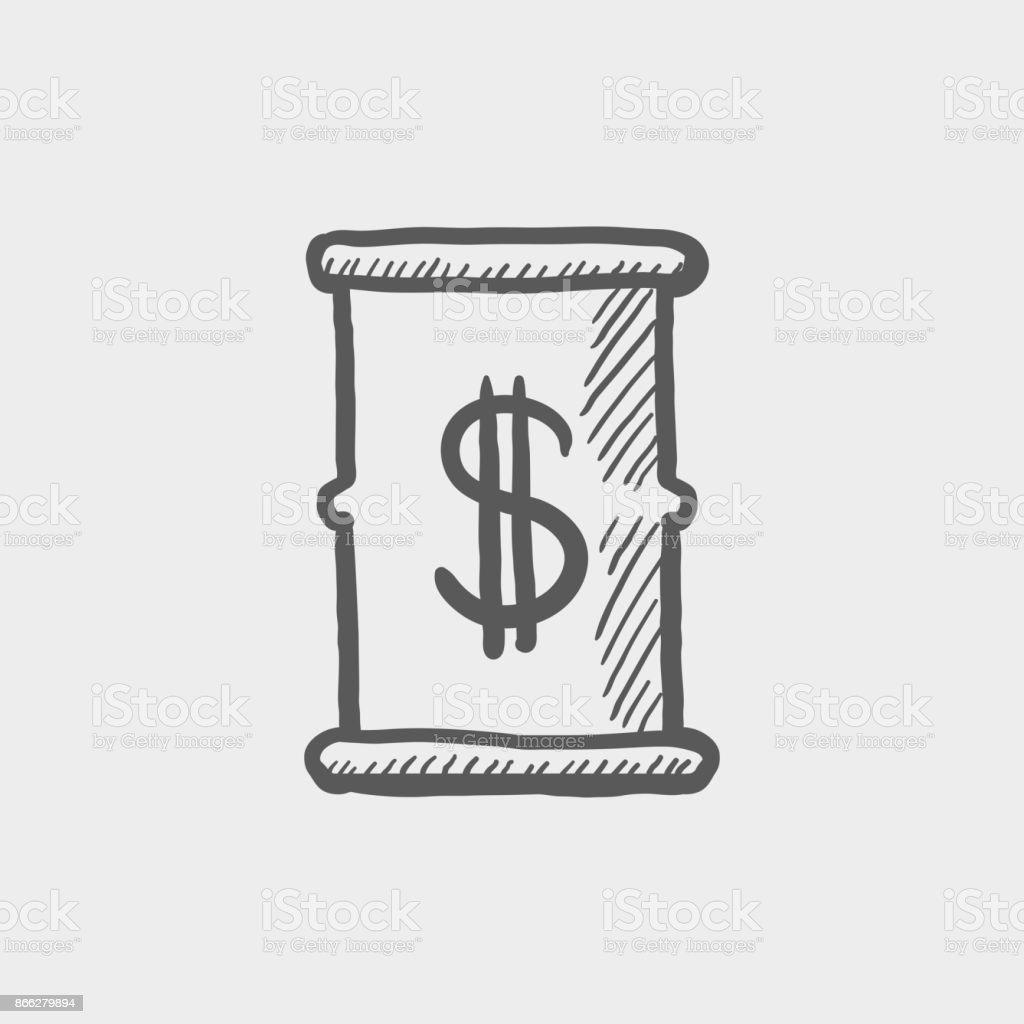 Barrel with dollar symbol sketch hand drawn doodle icon stock barrel with dollar symbol sketch hand drawn doodle icon royalty free barrel with dollar symbol biocorpaavc