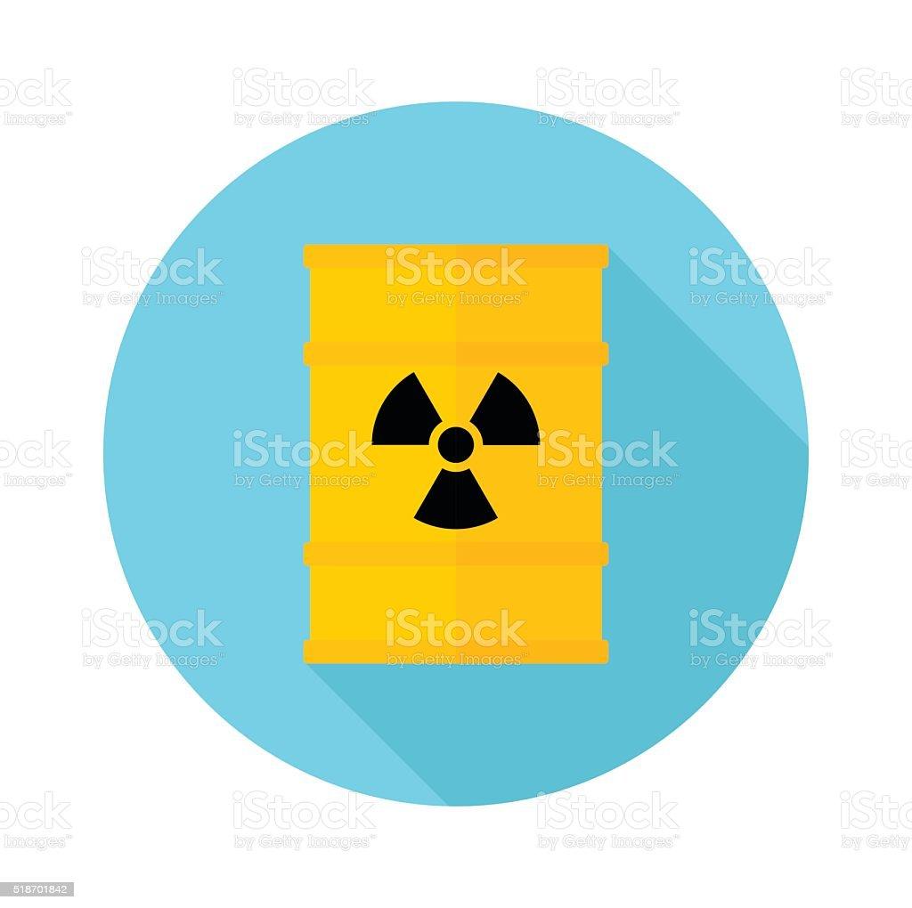 Barrel with hazardous chemicals vector art illustration