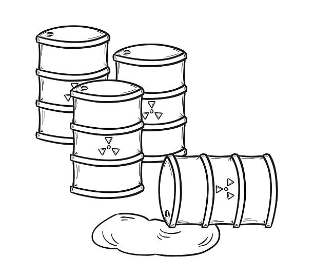 Royalty Free Drawing Of The Toxic Waste Barrel Clip Art ...