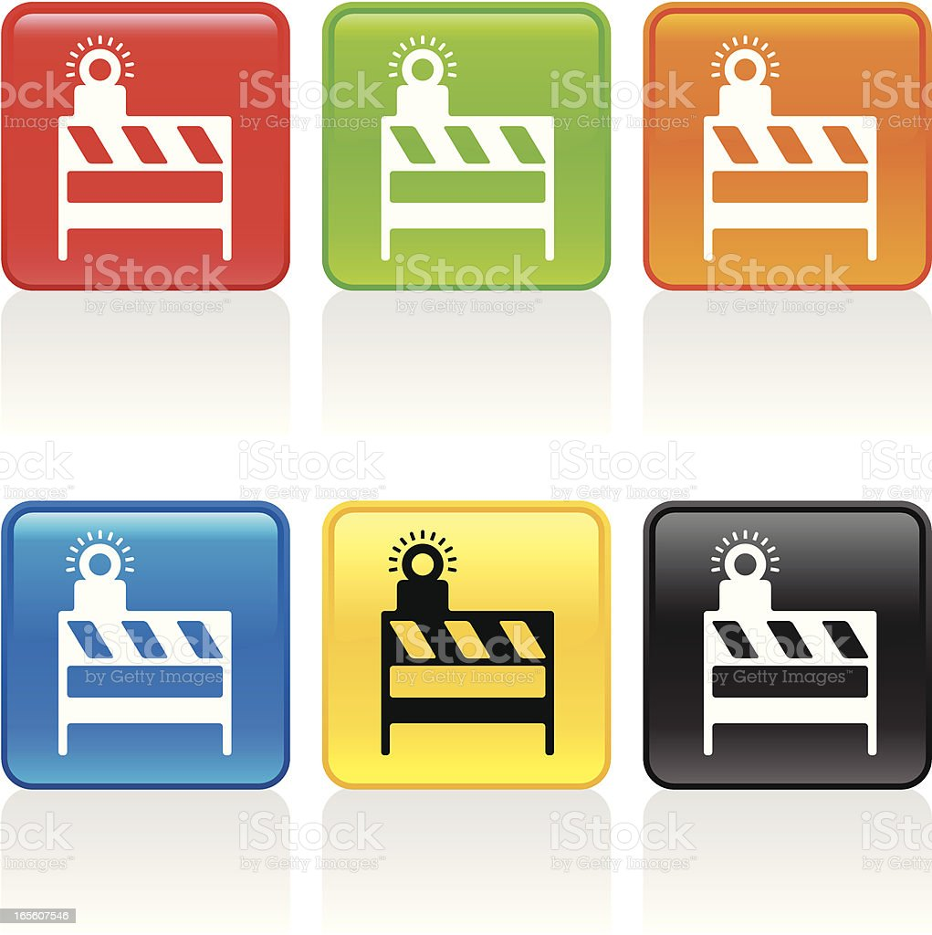 Barricade Icon royalty-free stock vector art