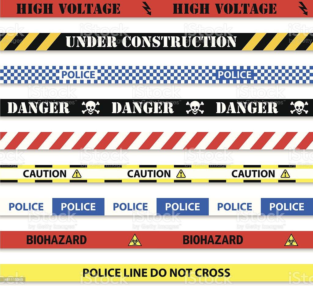 barricade tapes vector art illustration