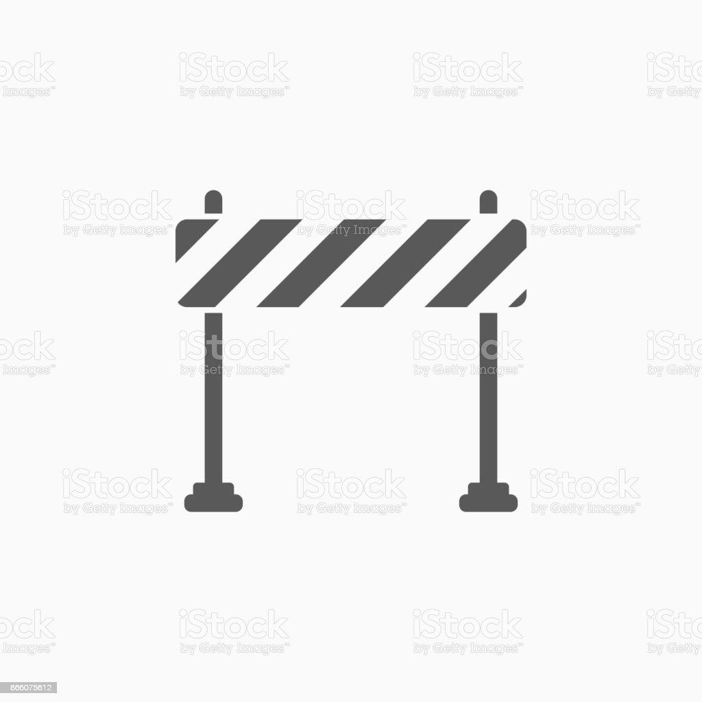 barrier icon vector art illustration