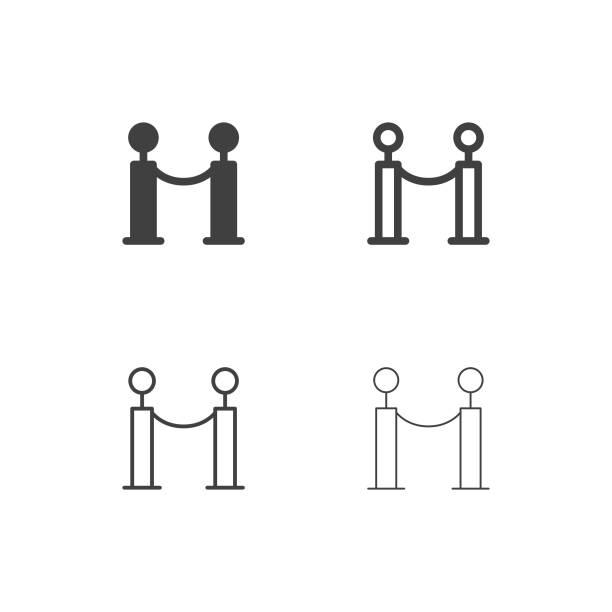 ilustrações, clipart, desenhos animados e ícones de ícones de corda barreira - série multi - eventos de gala