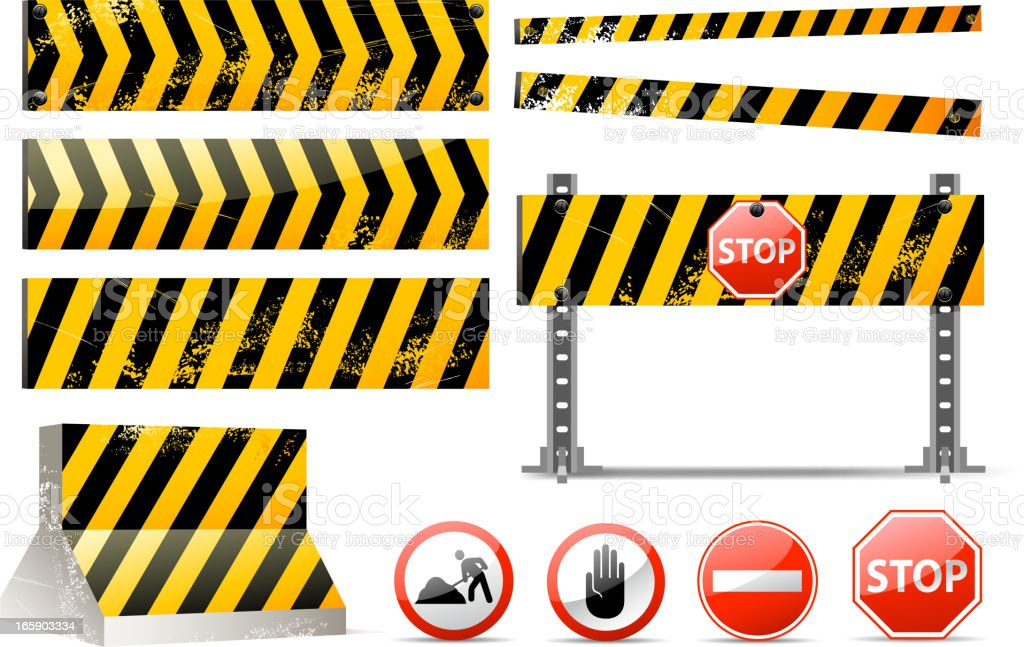 barrier set royalty-free barrier set stock vector art & more images of boundary