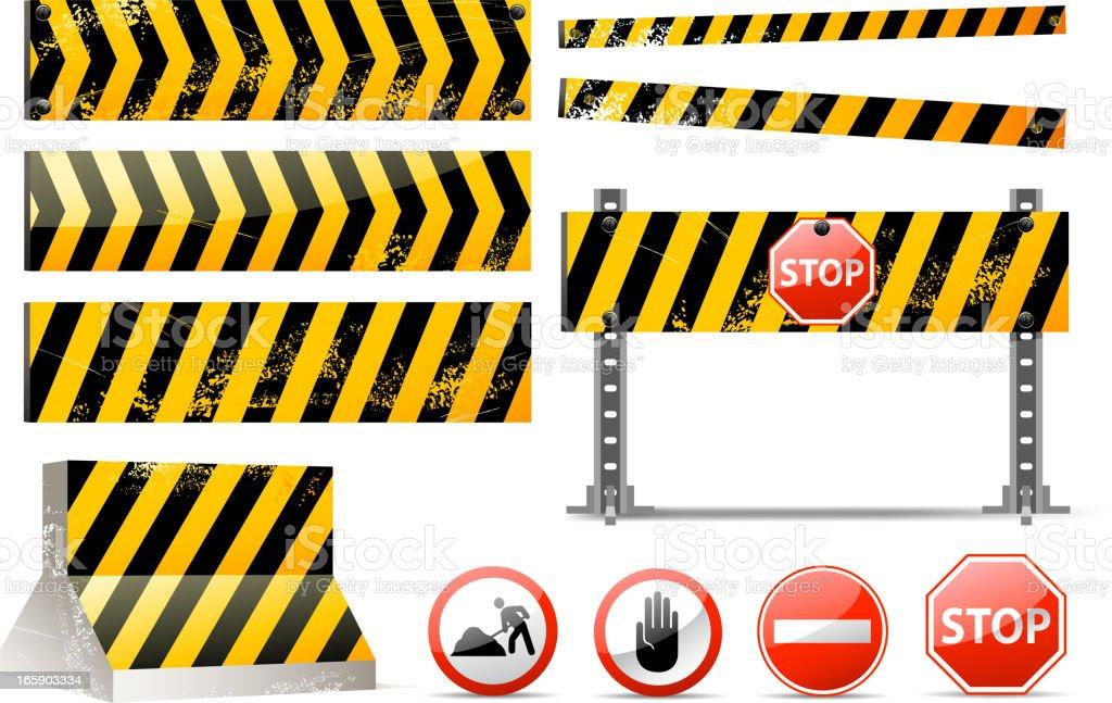 barrier set vector art illustration