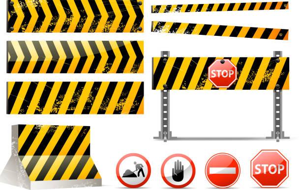 barrier-set - landstraße stock-grafiken, -clipart, -cartoons und -symbole