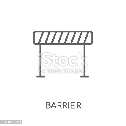 Barrier sign linear icon. Modern outline Barrier sign logo concept on white background from Traffic Signs collection. Suitable for use on web apps, mobile apps and print media.