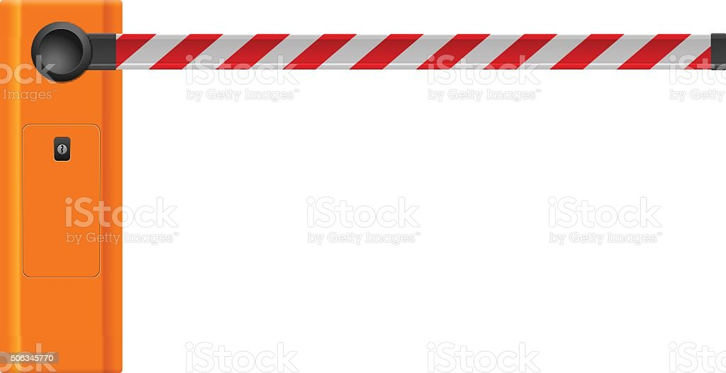 Barrier vector art illustration