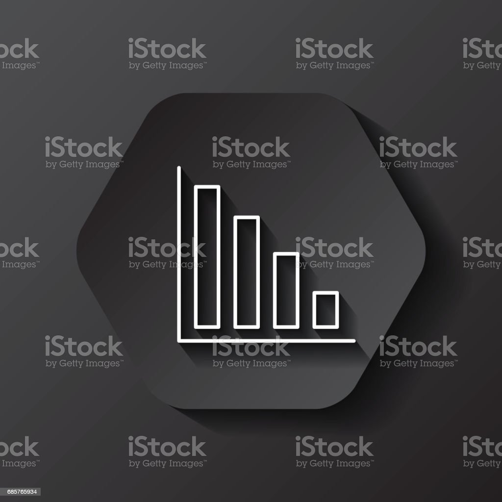 bars icon. Infographic design over hexagon. Vector graphic royalty-free bars icon infographic design over hexagon vector graphic stock vector art & more images of analyzing
