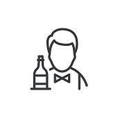 istock Bartender Line Icon Editable Stroke 1308738908