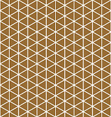 Base grid Mitsukude for patterns Kumiko.Brown color background.