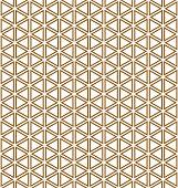 Base grid Mitsukude for patterns Kumiko.Brown color.