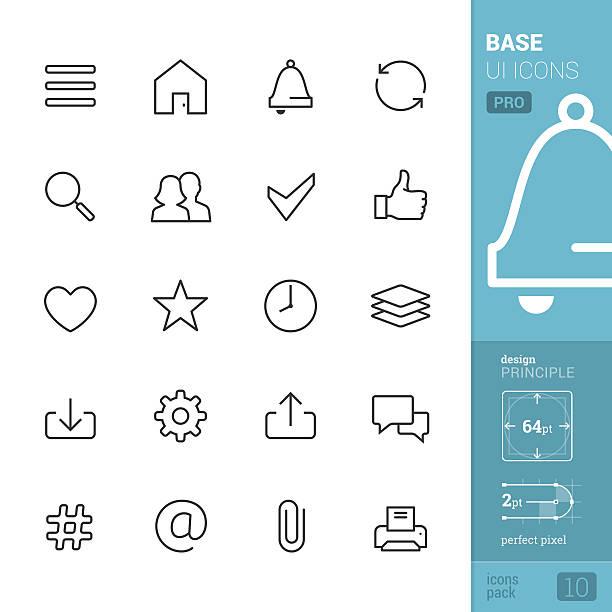 Base des icônes interface utilisateur vector-pack PRO - Illustration vectorielle