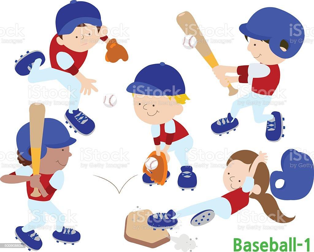 baseball 1 vector art illustration