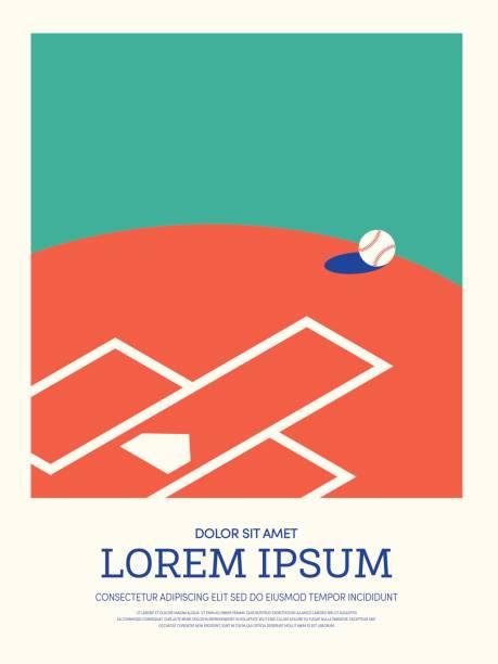 Baseball abstract sport vintage retro style poster background vector art illustration