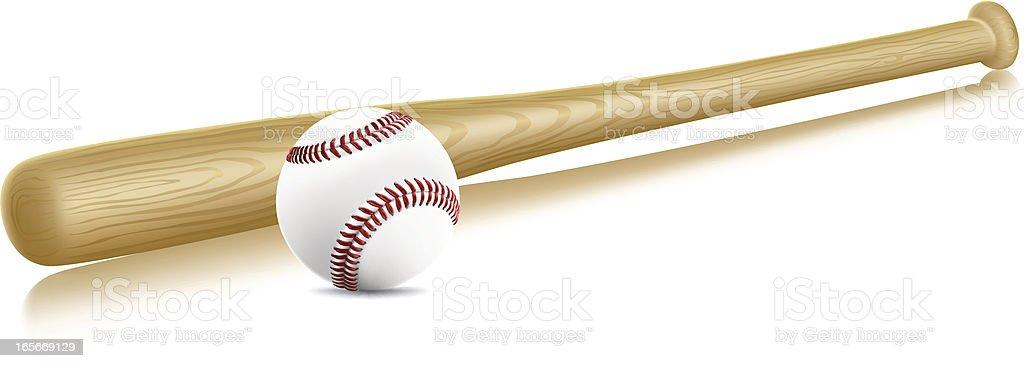 Baseball and Bat royalty-free stock vector art