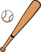 Baseball Bats and Ball stock vector. Illustration of ...  |Baseball Bat And Ball Vector