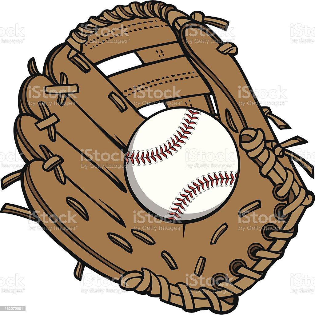 royalty free baseball glove clip art vector images illustrations rh istockphoto com baseball bat and glove clip art baseball glove outline clip art