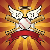Baseball Angel Crest