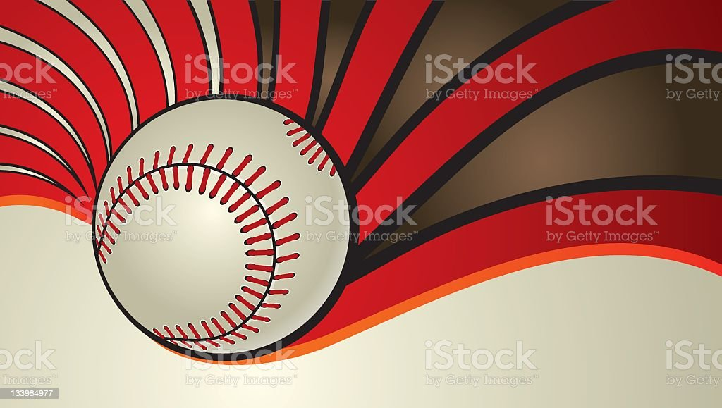 Baseball background vector art illustration