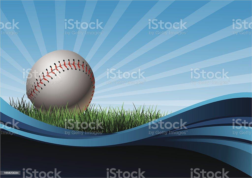 Baseball Background royalty-free stock vector art
