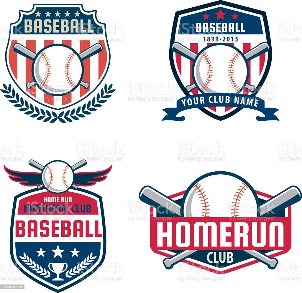 Baseball badge set,sport logo collection,team identity,vector il vector art illustration