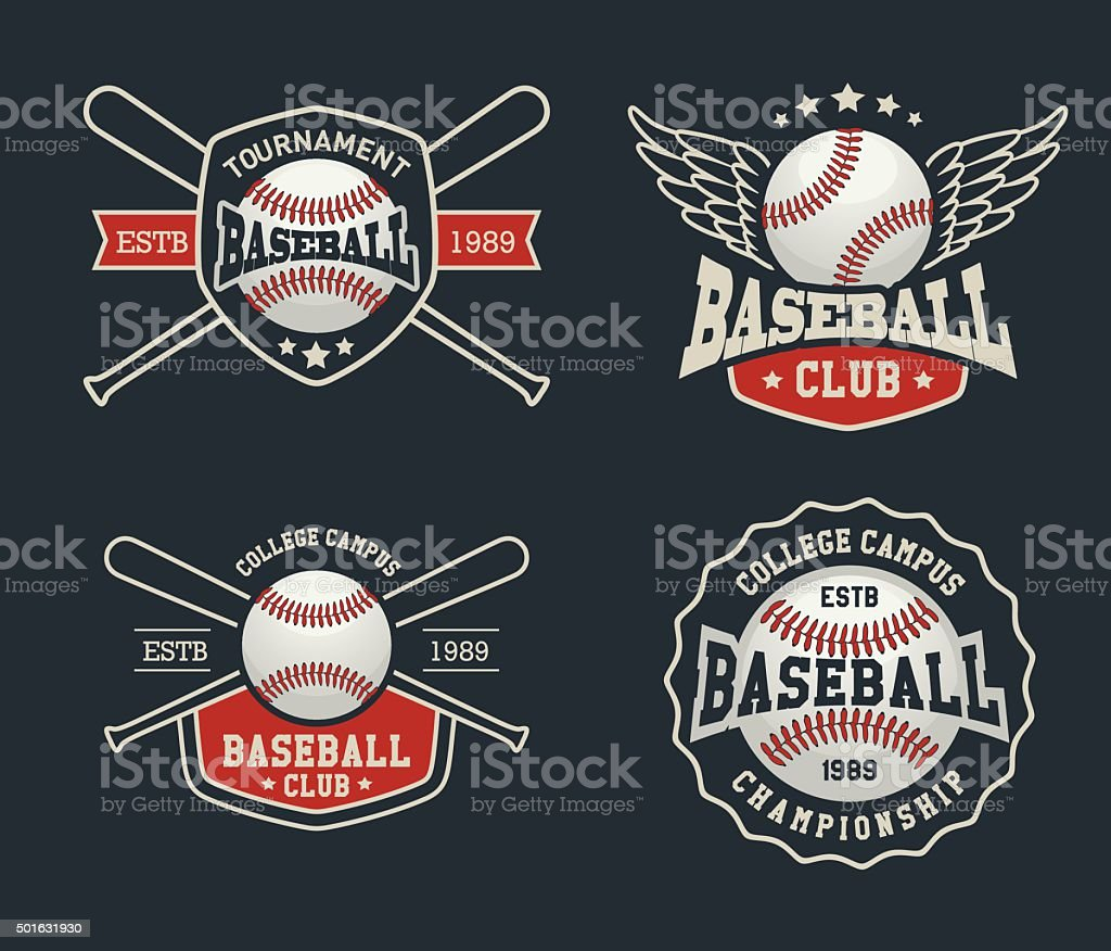 Baseball-Abzeichen – Vektorgrafik