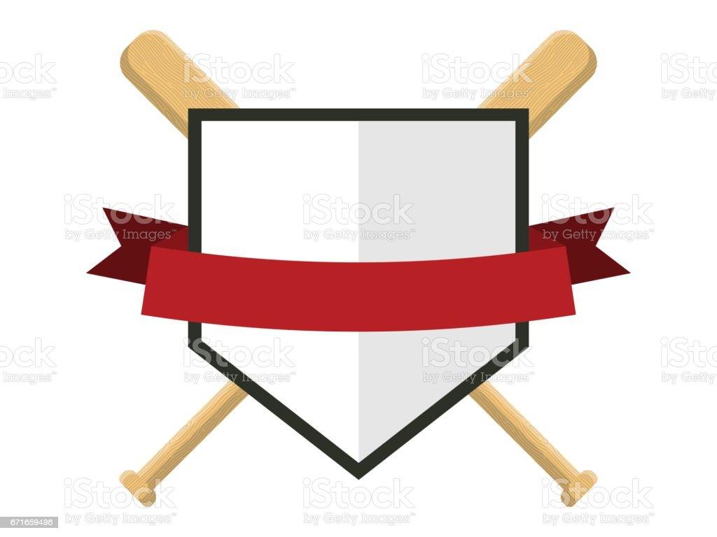 Baseball badge,sport icon,team identity vector art illustration