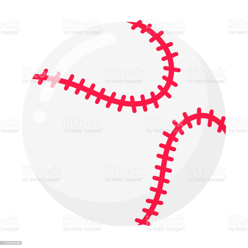 de36e941c319c Baseball ball flat style design vector illustration isolated on white  background icon signs. Symbols of sport game baseball. - Illustration .