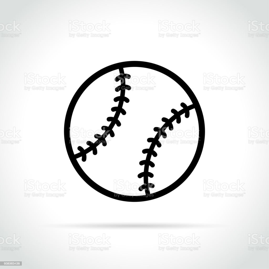 baseball ball icon on white background vector art illustration