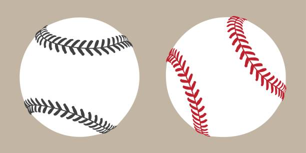 baseball ball symbol vektor-illustration - baseball stock-grafiken, -clipart, -cartoons und -symbole