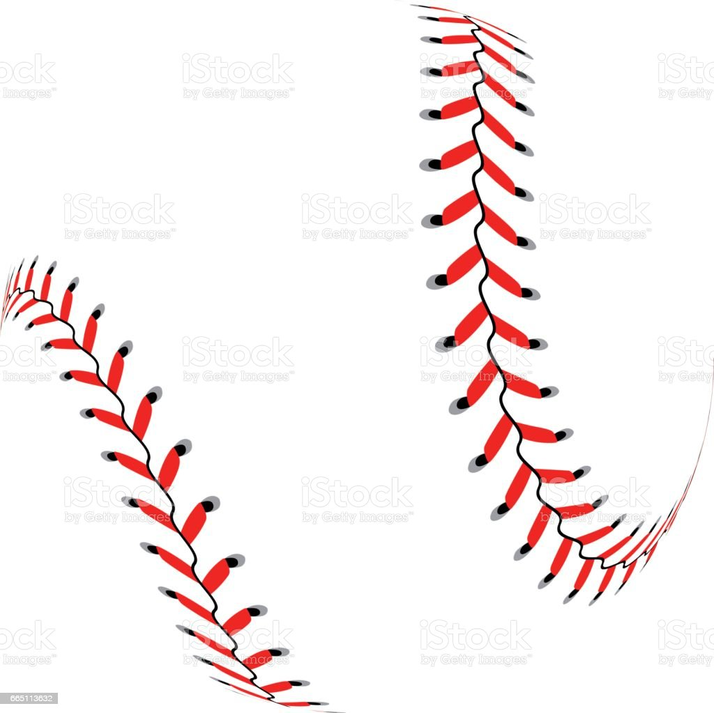 Baseball ball on white background vector art illustration