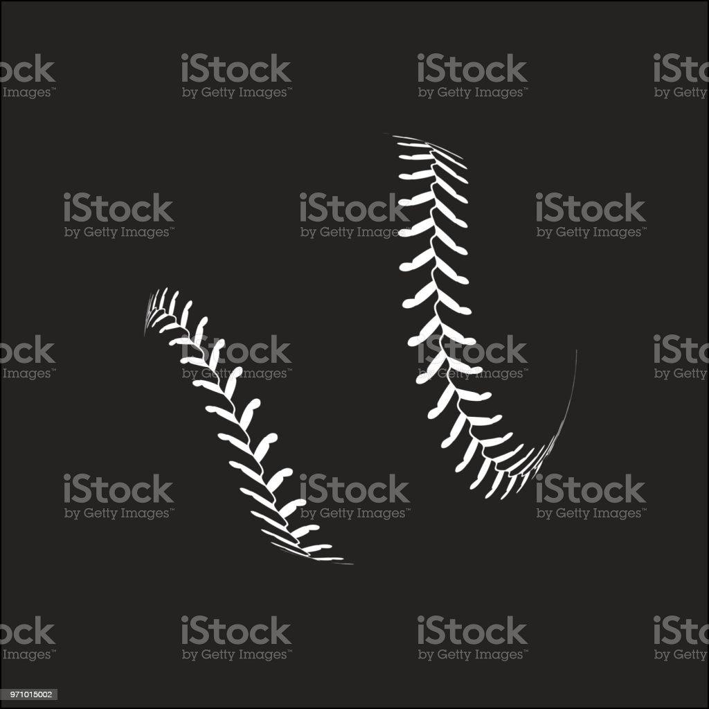 Baseball ball on white background vector art illustration