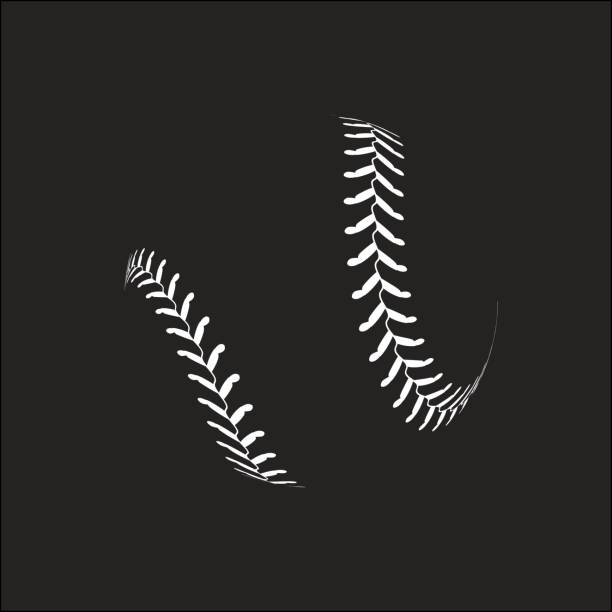 baseball ball on white background - softball stock illustrations, clip art, cartoons, & icons