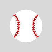 Baseball ball. Vector silhouette. Vector icon isolated. Flat illustration