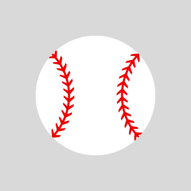baseball-ball. softball. vektor-silhouette. vektor icon isoliert - baseball stock-grafiken, -clipart, -cartoons und -symbole