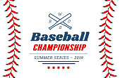 Baseball ball text frame on white background illustration