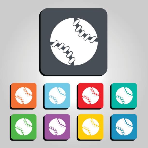 Baseball Ball Vector Icon Illustration vector art illustration