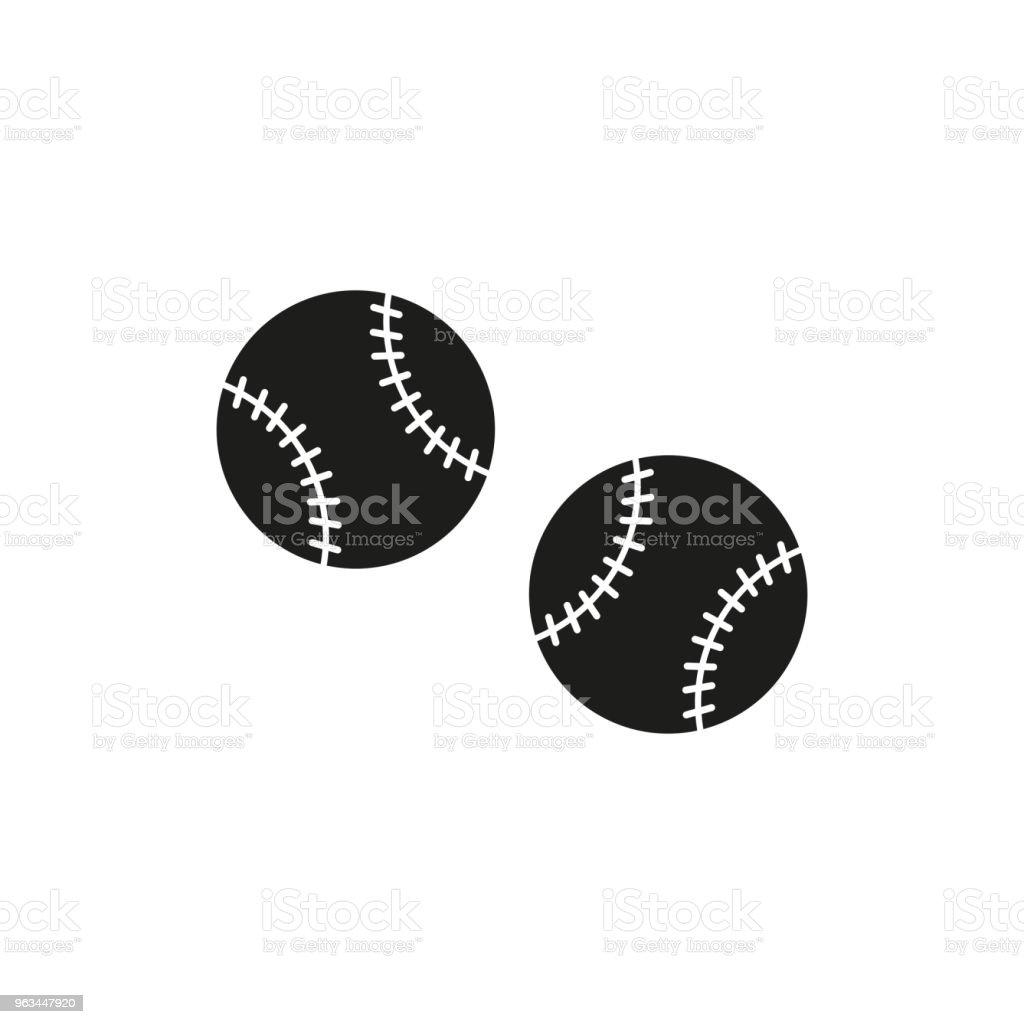 beyzbol topu vektör simgesi - Royalty-free Amerikan Kültürü Vector Art