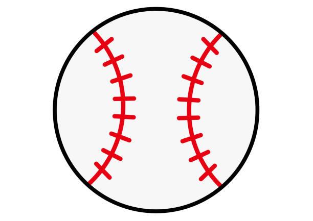 野球のボール ベクターアートイラスト