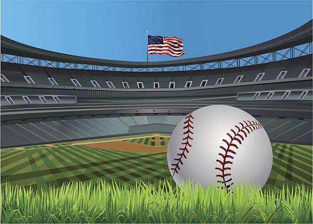 baseball ball - baseball stadium stock illustrations, clip art, cartoons, & icons