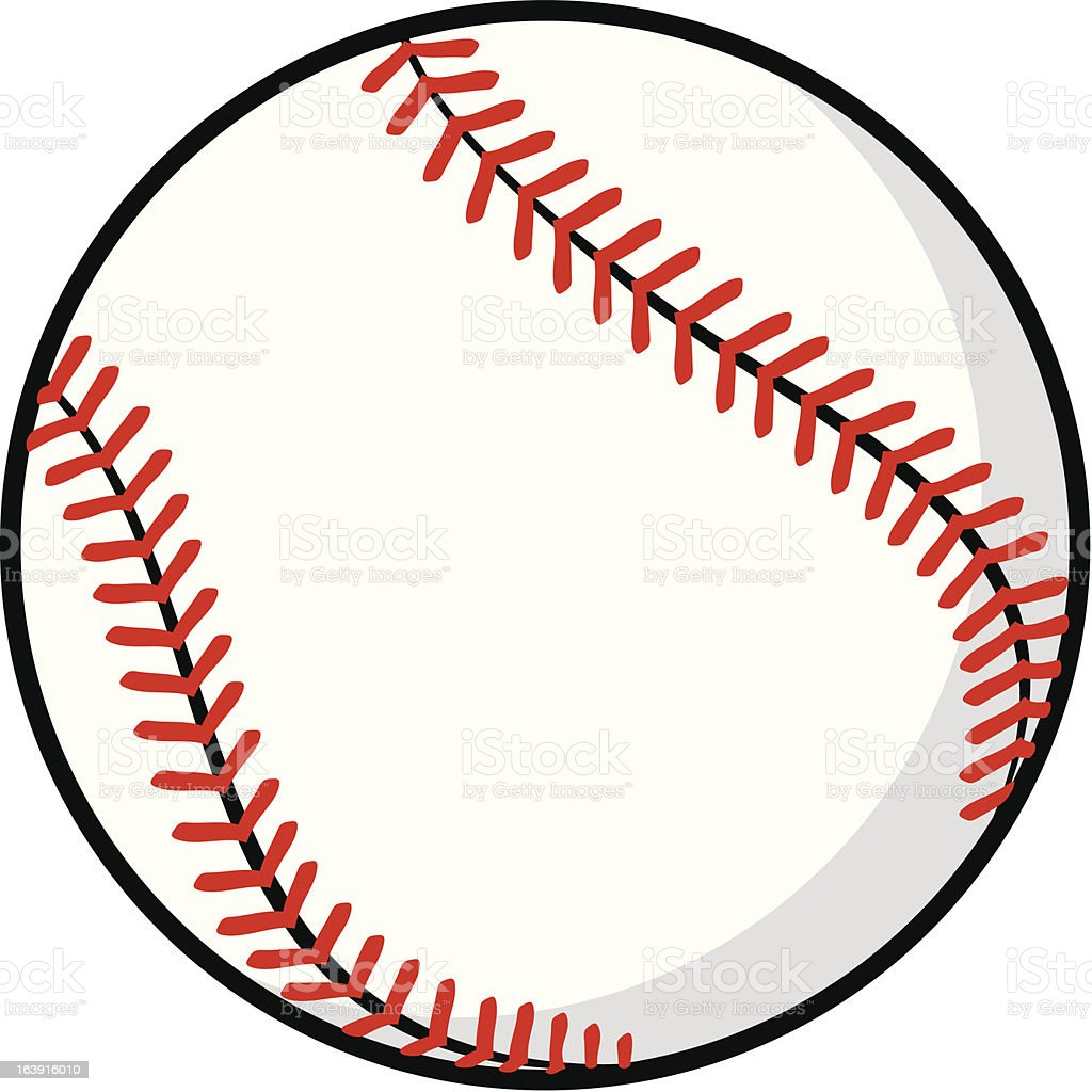 baseball ball vector art illustration