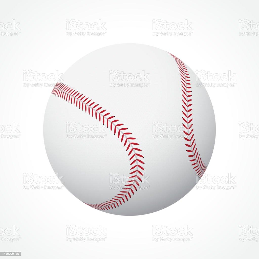 Baseball ball vector art illustration