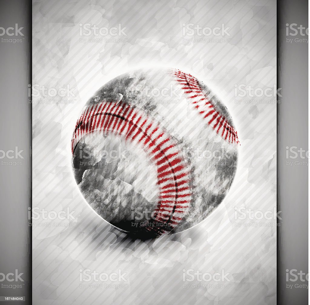 Baseball ball watercolor royalty-free stock vector art