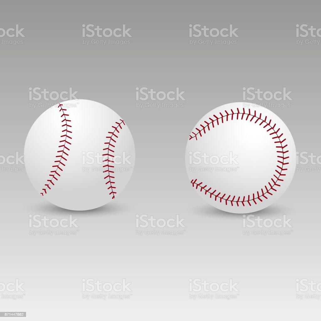 Baseball ball with soft shadow. Vector. vector art illustration