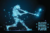 baseball ballplayer polygonal