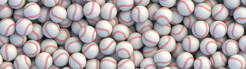 Baseball balls realistic vector background