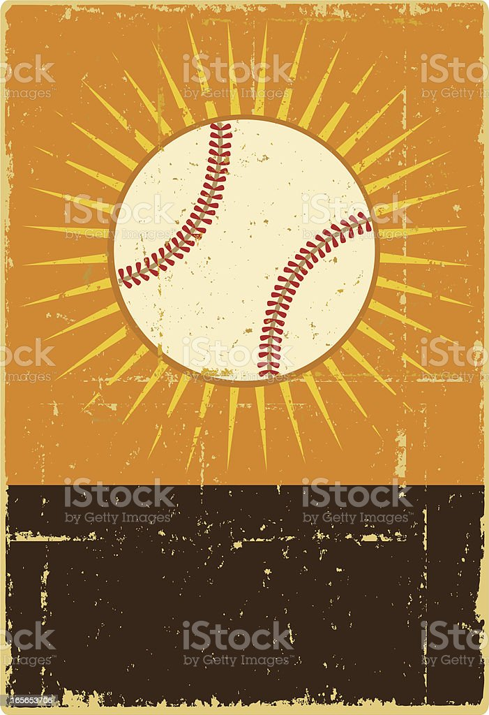 Baseball Banner vector art illustration