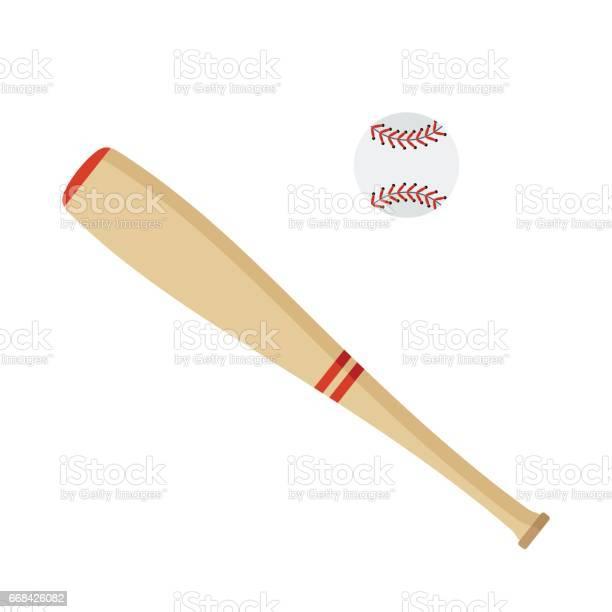 Baseball Bat And Ball Stock Illustration Download Image Now Istock